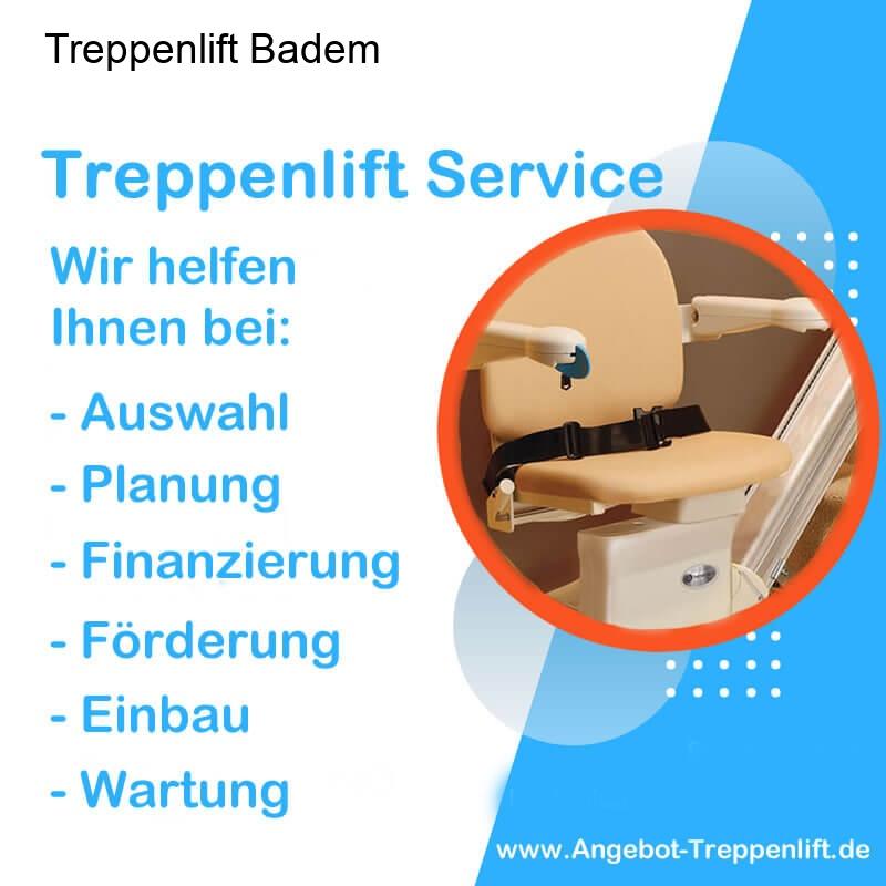 Treppenlift Angebot Badem