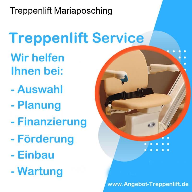Treppenlift Angebot Mariaposching