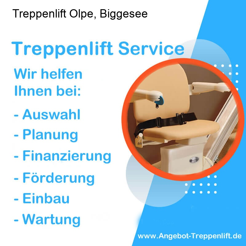 Treppenlift Angebot Olpe, Biggesee
