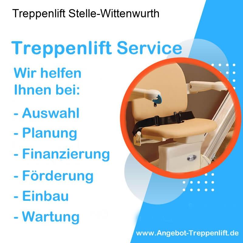 Treppenlift Angebot Stelle-Wittenwurth