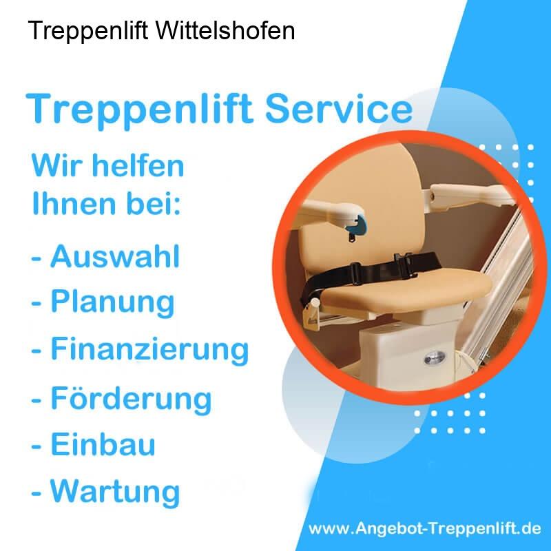 Treppenlift Angebot Wittelshofen